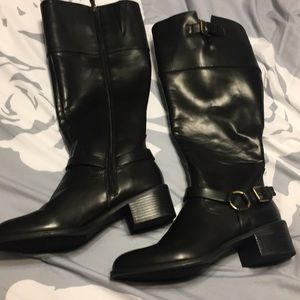 Black knee high boots- Chaps